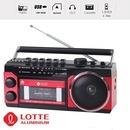 롯데 포터블카세트 핑키-107 라디오 SD USB재생테이프