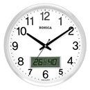 로니카 알루미늄 온도계습도계 무소음벽시계 R355AM